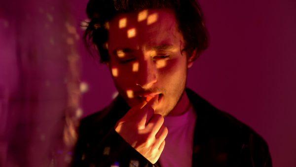 man with halucinogen use disorder taking LSD